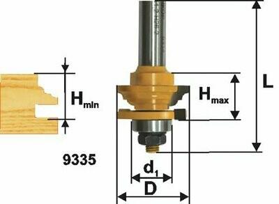 Фреза комбинированная рамочная d 41,3 х 23,4 мм,  хвостовик 12 мм