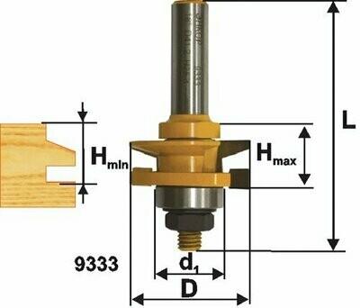 Фреза комбинированная рамочная d 41,3 х 26 мм,  хвостовик 12 мм