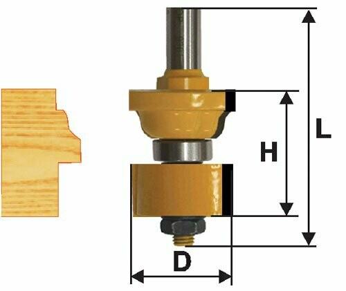Фреза комбинированная универсальная  d 35 х 26 мм,  хвостовик 12 мм