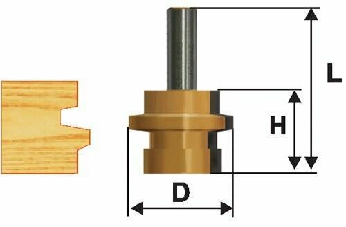 Фреза комбинированная универсальная  d 31,8 х 26 мм,  хвостовик 12 мм