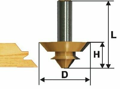 Фреза комбинированная универсальная  d 38,1 х 14,3 мм,  хвостовик 12 мм