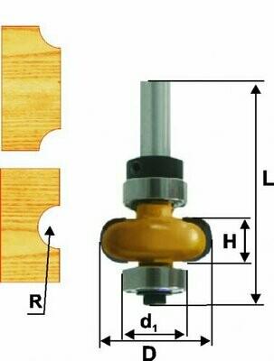 Фреза кромочная галтельная d 22,2 х 6 мм, r 3,2  хвостовик 8 мм