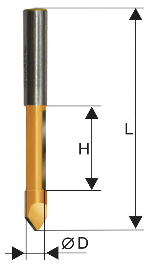 Фреза кромочная прямая d 10 х 25 мм, хвостовик 8 мм