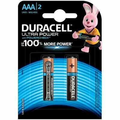 Элемент питания DURACELL AAA LR03 UltraРower, алкалиновые /4 шт./упак./