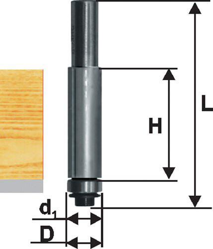 Фреза кромочная прямая d 12,7 х 51 мм, хвостовик 12 мм