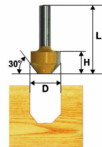 Пазовая фасонная d 11,9 х 13 мм, r 22  хвостовик 8 мм