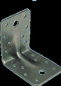 Уголок крепёжный усиленный, 105х105х90х2,0 мм, оцинкованный