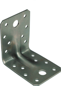 Уголок крепёжный усиленный, 90х90х65х2,0 мм, оцинкованный