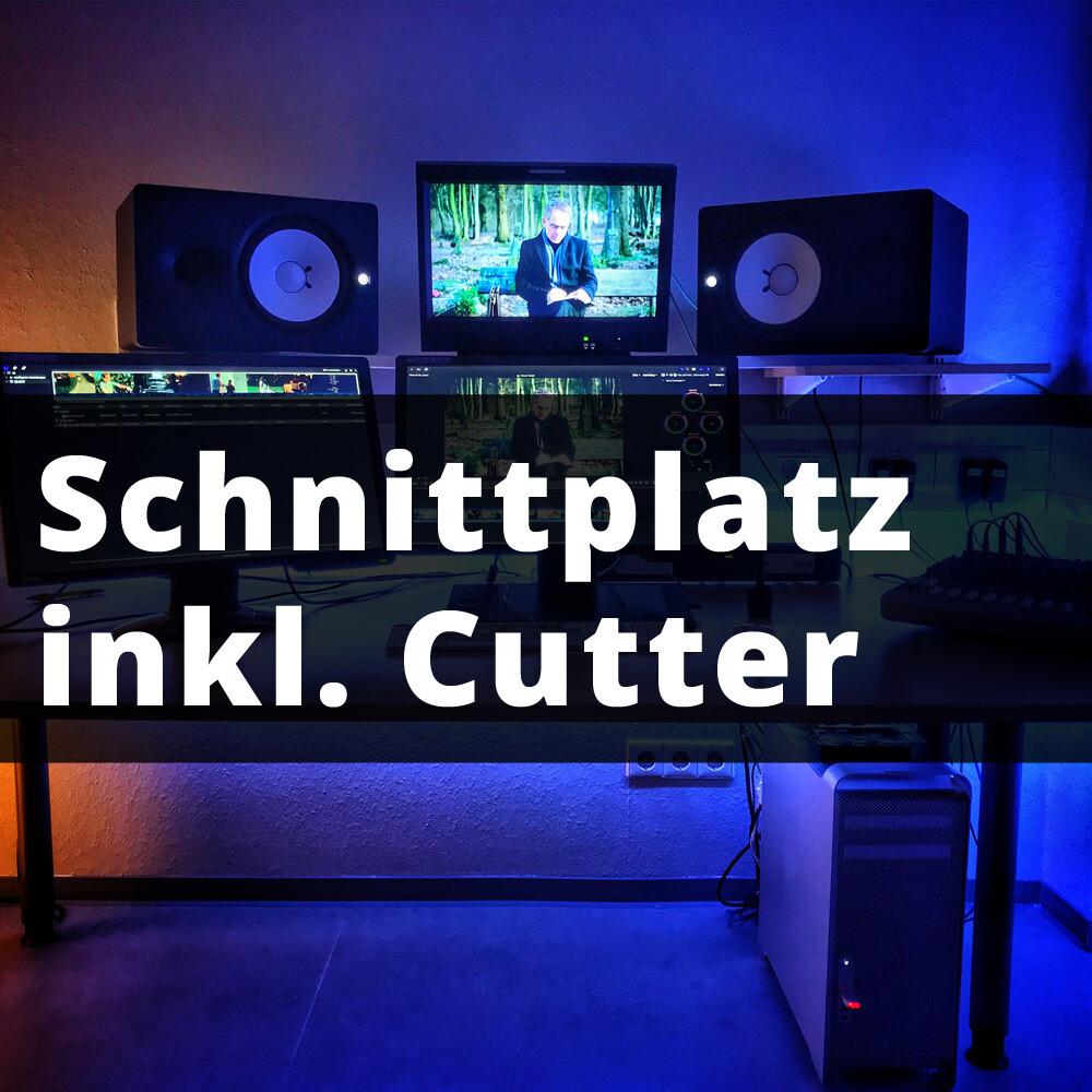 1H Videoschnitt inkl. Cutter und Schnittplatz