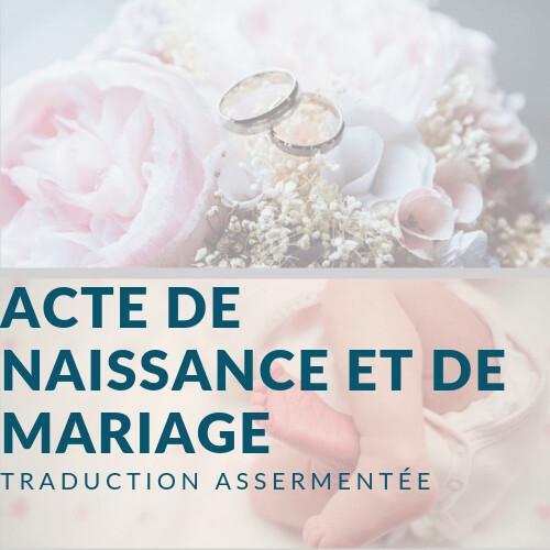 Traduisez Acte De Naissance Et De Mariage En Ligne