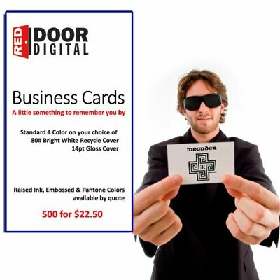 1000 Business Cards 2 side full color