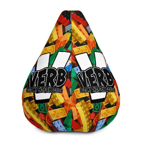 """""""Verb"""" Blockhead Bean Bag Chair w/ filling"""