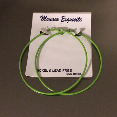 Mint Green Hoop Earrings