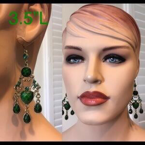 Green Vintage Bohemian Hook Earrings