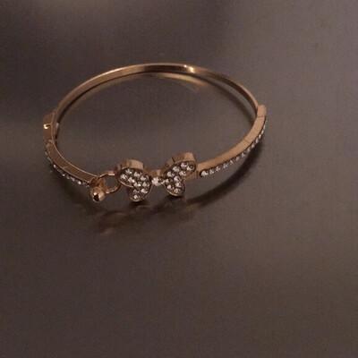 Gold Butterfly Stones Bracelet