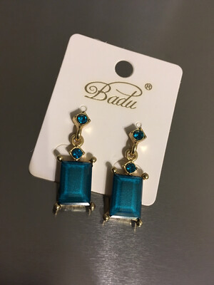 Turquoise Stone Post Earrings
