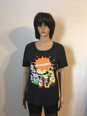 Grey Nickelodeon Disney  T-shirt