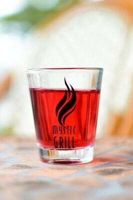Mystic Grill Logo Shotglass