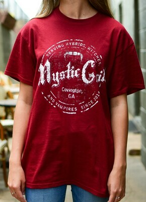 Red Mystic Grill Stamp Short Sleeve Front