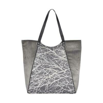 Fhb9 Designer Shopping Bags LE - Grey Textured