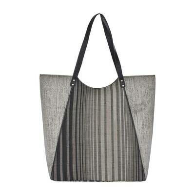 Fhb8 Designer Shopping Bags LE - Grey Stripes