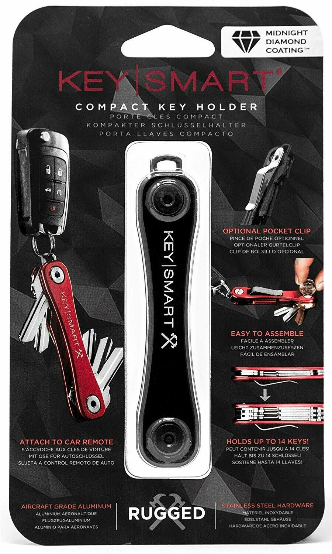Made In USA KeySmart® Rugged Titanium Extended Key Holder W// Expansion Screws