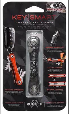 KeySmart Rugged - Multi-Tool Key Holder with Bottle Opener and Pocket Clip (up to 20 Keys, Mossy Oak)