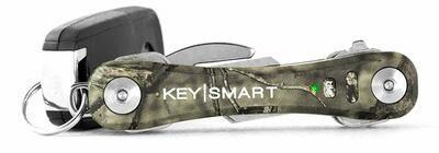 KeySmart Pro - Compact Key Holder w LED Light & Tile Smart Technology, Track your Lost Keys & Phone w Bluetooth (up to 20 Keys, Mossy Oak)