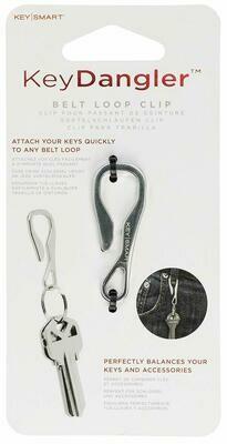 KeySmart Key Dangler - Clip Your KeySmart To Anything (Stainless Steel, Regular Size)