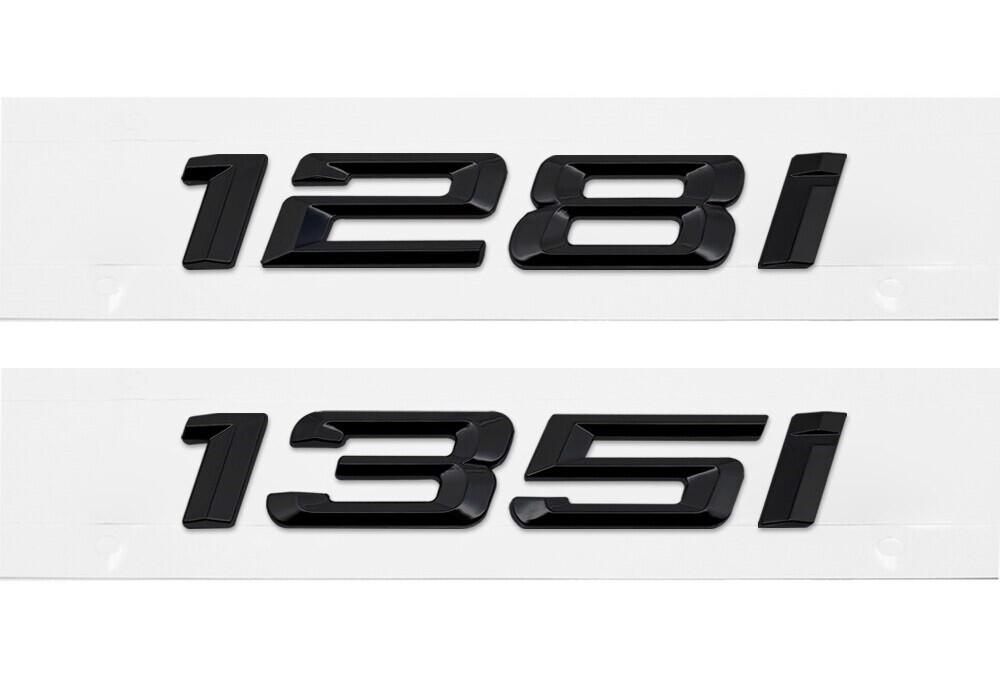 E82 128i & 135i Blackout Trunk Badges
