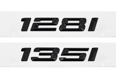 E82 128i & 135i Blackout Trunk Badges