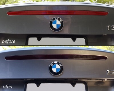 E82 Smoked Brake Light Overlay