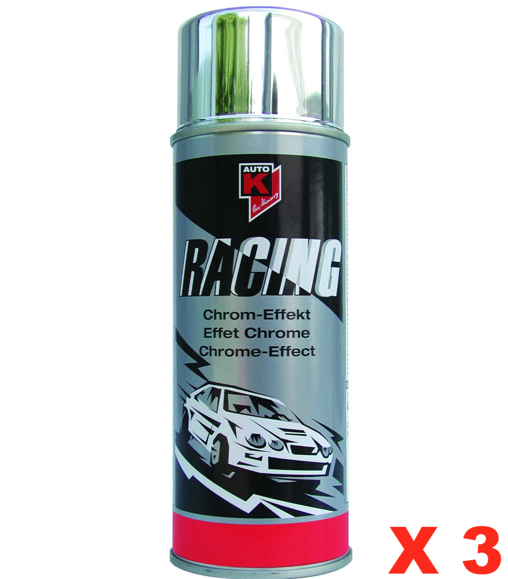 AUTO RACING CHROME-EFFECT 400 ML AEROSOL SPRAY CANS  PAINT COMASOUND KARTEL CAR MOTORBIKE