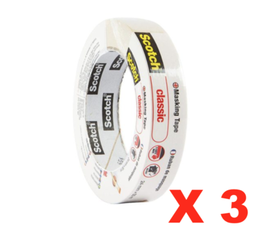 SCOTCH MASKING TAPE 24mm X 50m DIY BRICOLAGE PAINT PROTECTION ADHESIF 4046719627936 COMASOUND KARTEL