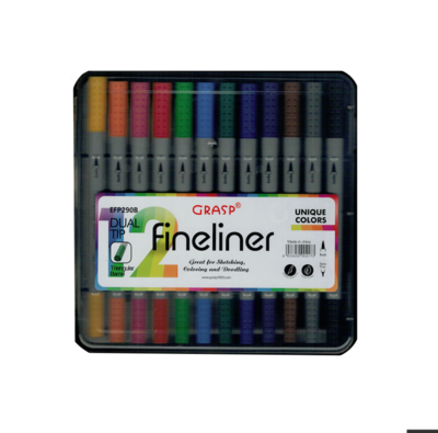 GRASP FINELINER MARKER EFP290B DUAL TIP TRIANGULAR BARREL SKETCH DRAW ART ARTIST 6933650904173 GRAFFITI COMASOUND KARTEL