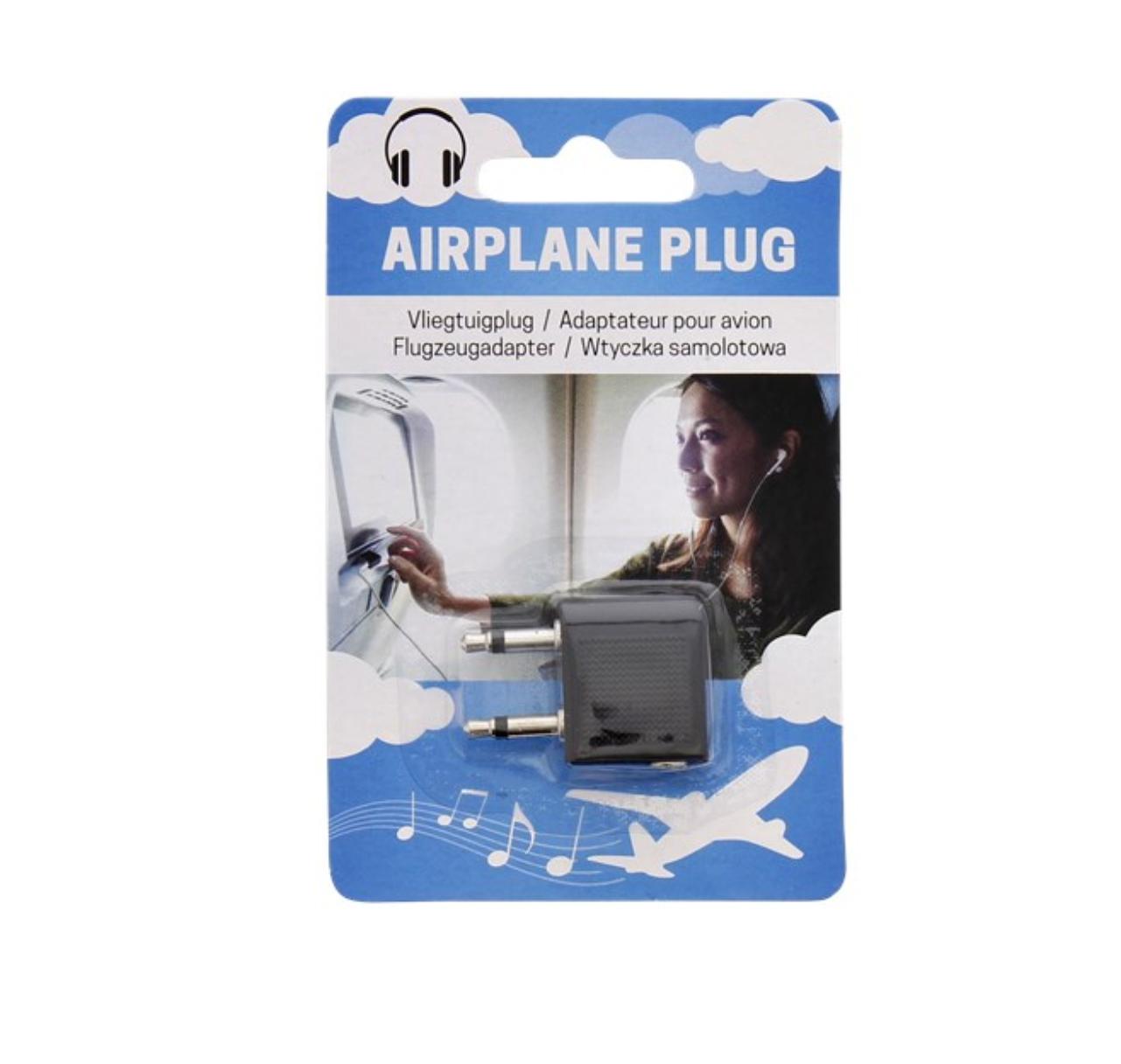 AIRPLANE PLUG FOR HEADPHONE TRAVEL ADAPTATOR PRO VOYAGE PRISE ADAPTATEUR ECOUTEUR COMASOUND KARTEL CSK ONLINE