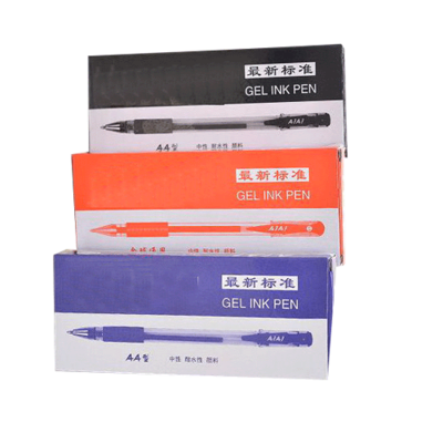 AIAI GEL INK PEN X 36 BLUE RED BLACK SCHOOL OFFICE SHOP WRITING LOT SET PACK COMASOUND KARTEL CSL ONLINE
