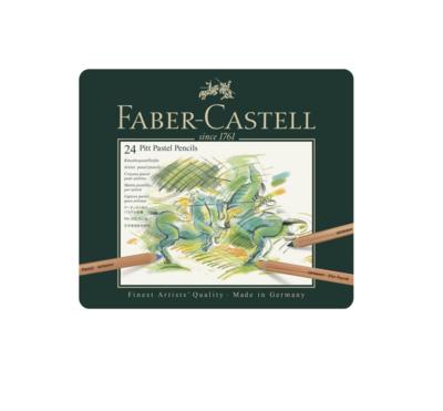 FABER CASTELL 24 PITT PASTEL PENCILS CRAYON COULEUR ART ARTISTE DESSIN DRAW 4005401121244 COMASOUND KARTEL