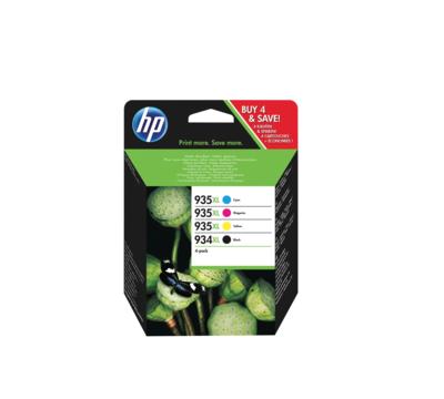 HP CARTOUCHE D'ENCRE ORIGINALE  934  935XL PACK SET LOT CYAN MAGENTA YELLOW BLACK NEUF 190781119845 COMASOUND KARTEL CSK ONLINE