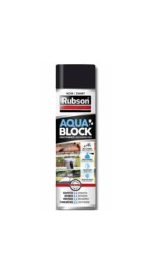 RUBSON AQUA BLOCK BLACK NOIR ETANCHEITE SPRAY AEROSOL COLMATER PRO BRICOLAGE  3178041330428 COMASOUND KARTEL CSK ONLINE