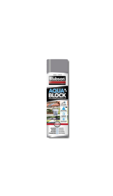 RUBSON AQUA BLOCK GREY GRIS ETANCHEITE SPRAY AEROSOL COLMATER PRO BRICOLAGE  3178041330435 COMASOUND KARTEL CSK ONLINE