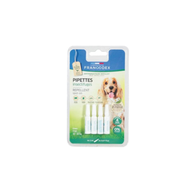 FRANCODEX PIPETTES INSECTIFUGES PUCES TIQUES ANIMAL ANIMAUX PET DOG MOUSTIQUES PHLEBOTOMES CHIEN VETERINAIRE 3283021752234 COMASOUND KARTEL CSK ONLINE