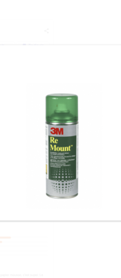 3M RE MOUNT COLLE PHOTO TRAVAUX  REPOSITIONNABLE SPRAY AEROSOL BOMBE 400 ML ART SCHOOL PRO DECO 5900422003144 COMASOUND KARTEL CSK ONLINE