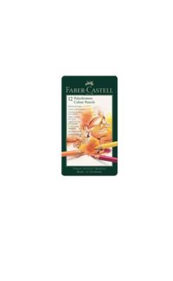 FABER CASTELL X 12 POLYCHROMOS COLOUR PENCILS CRAYON COULEUR ART ARTISTE DESSIN PRO COMASOUND KARTEL 4005401100126