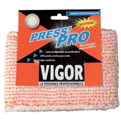 VIGOR PRESS'PRO RECHARGE MICROFIBRE LAVAGE  3142762310588 SERPILLIERE MAISON HOME LOT SET PACK COMASOUND KARTEL CSK ONLINE