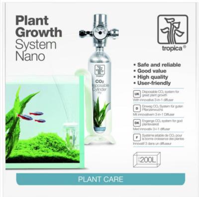 TROPICA PLANT GROWTH SYSTEM NANO AQUARIUM PLANTE KIT SET PACK CARE CO2  200 LITRES POISSON ANIMALERIE EAU 5703249702005 COMASOUND KARTEL CSK ONLINE