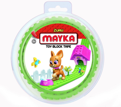 ZURU MAYKA BRIQUE ROULEAU TOY BLOCK TAPE JEU JOUET COMPATIBLE LEGO CONSTRUCTION ENFANT 3700514313623 COMASOUND KARTEL CSK ONLINE CLEAR GREEN