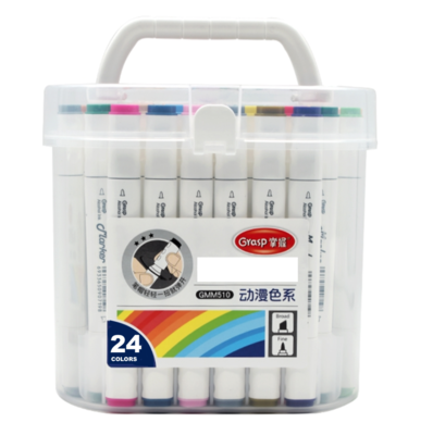 GRASP GMM510 X 24 MARKER  LOT SET PACK DUAL TIP ARCHITECTE BARREL SKETCH DRAW ART ARTIST 6933650907648 GRAFFITI COMASOUND KARTEL