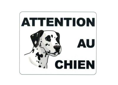 KISIKOL ATTENTION AU CHIEN PLAQUE PVC SECURITE SIGNALITIQUE DECORATION DECOR MAISON SHOP BOUTIQUE BAR COLLECTION  3708569126540 COMASOUND KARTEL CSK ONLINE BLACK
