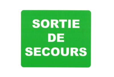 KISIKOL SORTIE DE SECOURS PLAQUE PVC SECURITE SIGNALITIQUE DECORATION DECOR MAISON SHOP BOUTIQUE BAR COLLECTION  3708569126540 COMASOUND KARTEL CSK ONLINE